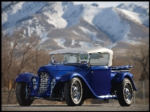 1932, Niebieski, Eclipse, Ford, Roadster