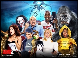 postacie, Scary Movie 4, King Kong, Anna Faris, Piła