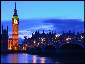London, Big Ben, Westminster Palace, Westminster Bridge