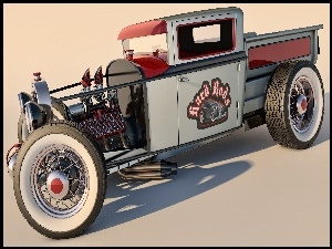 Zabytkowy, Hot Rod, Ford Model A Pickup, 1930