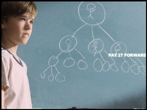 Pay It Forward, graf, Haley Joel Osment, tablica