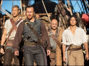 Tom Hopper, Kapitan Flint, Billy Bones, Black Sails, Toby Stephens, Serial, Długi John Silver, Piraci, Luke Arnold