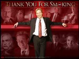 Katie Holmes, Cameron Bright, Aaron Eckhart, William H. Macy, Thank You For Smoking, garnitur, Maria Bello, Sam Elliott