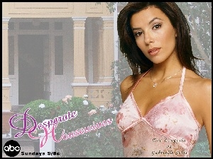 Desperate Housewives, sukienka, Eva Longoria, różowa