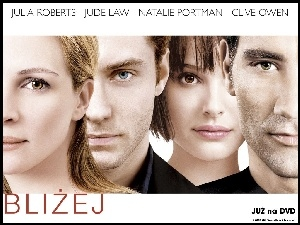 Julia Roberts, Closer, Natalie Portman, Jude Law, Clive Owen