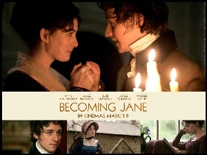 Becoming Jane, świeczki, Anne Hathaway, James McAvoy