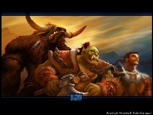 World Of Warcraft, fantasy, postacie, topór