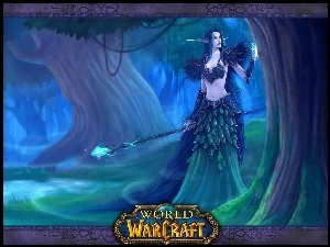 World Of Warcraft, fantasy, kobieta, elf