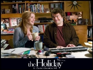 Holiday, biuro, Jack Black, Kate Winslet