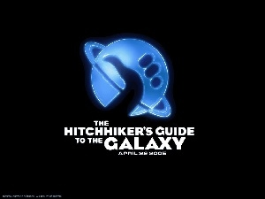 kciuk, Hitchhikers Guide To The Galaxy, napis