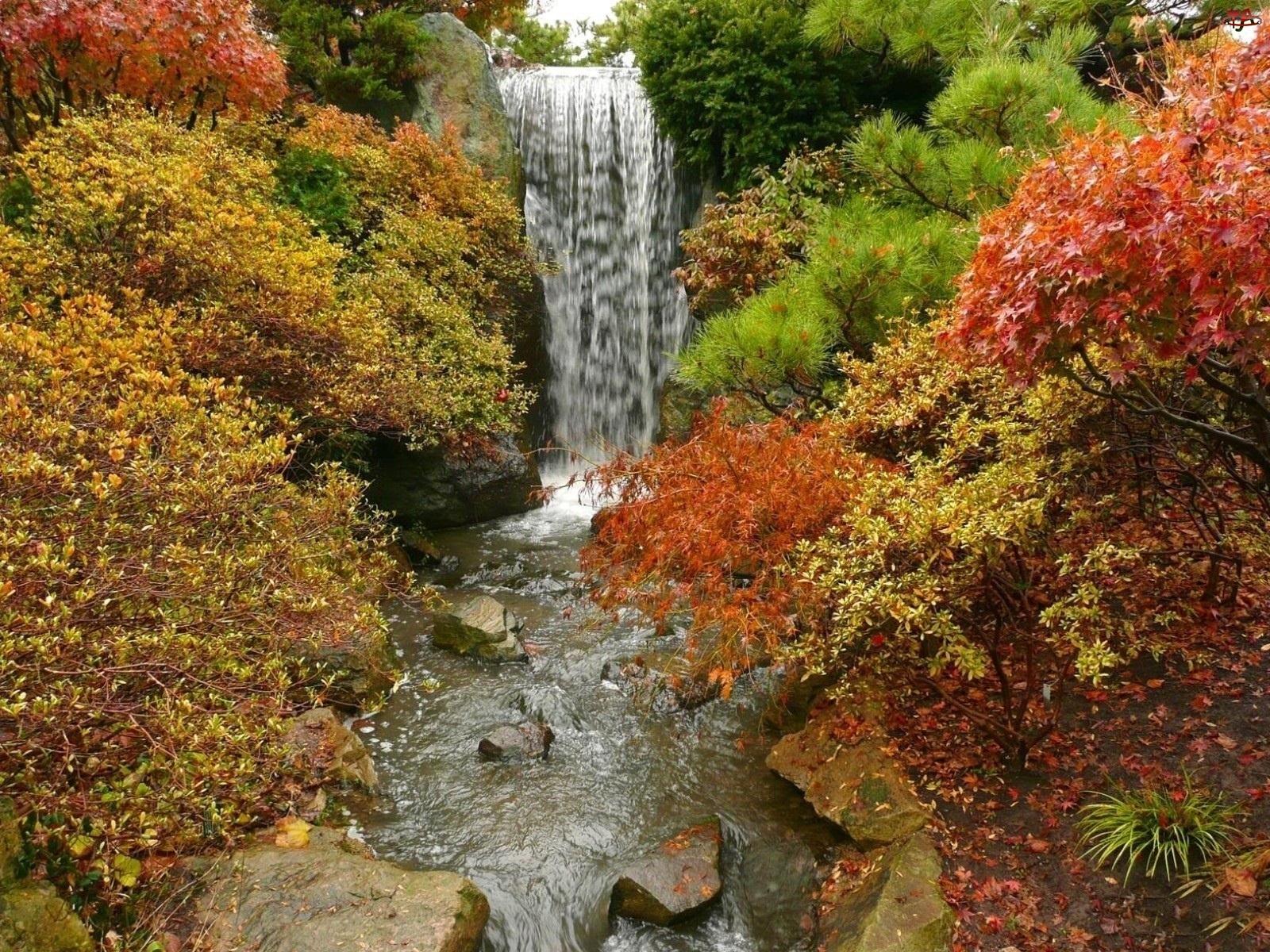 Wodospad, Jesienny, Pejzaż