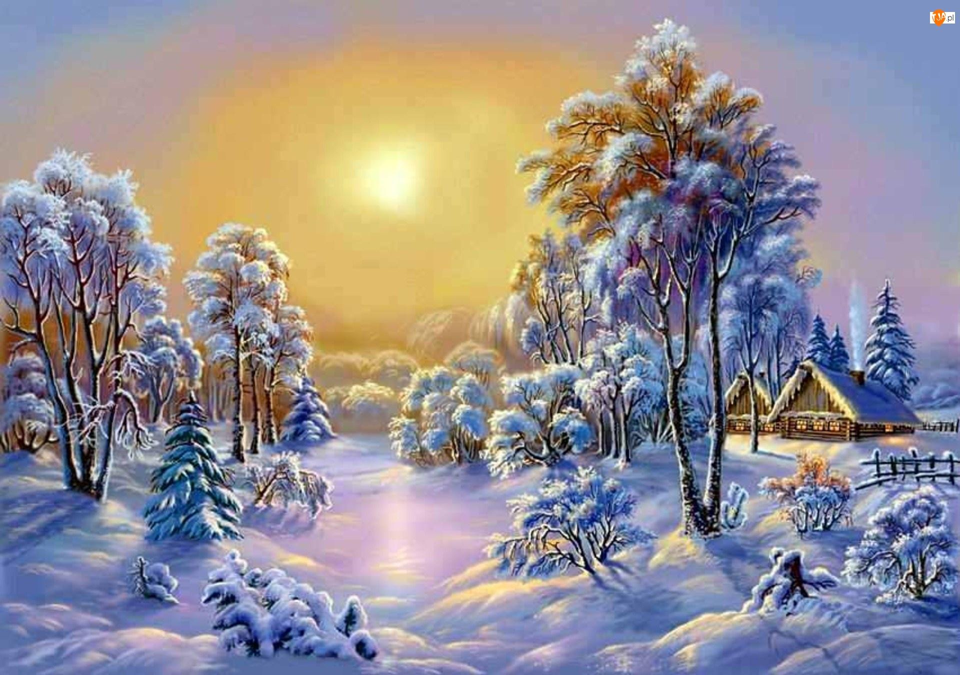 Зима рисунки природы 4