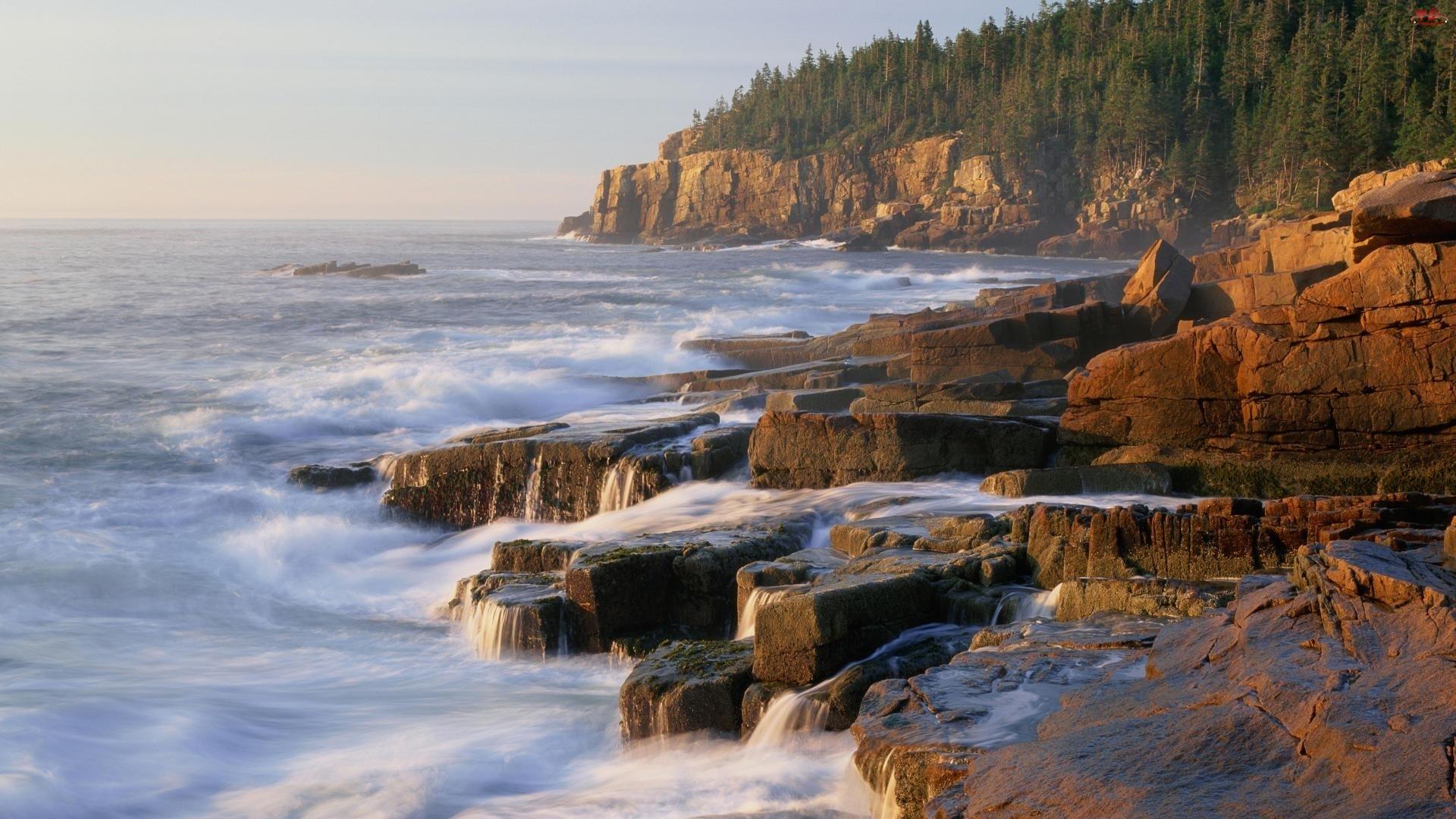 Morze, Maine, Klify, Acadia