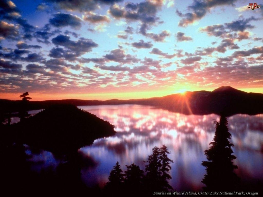 Zachód Słońca, Niebo, Góra