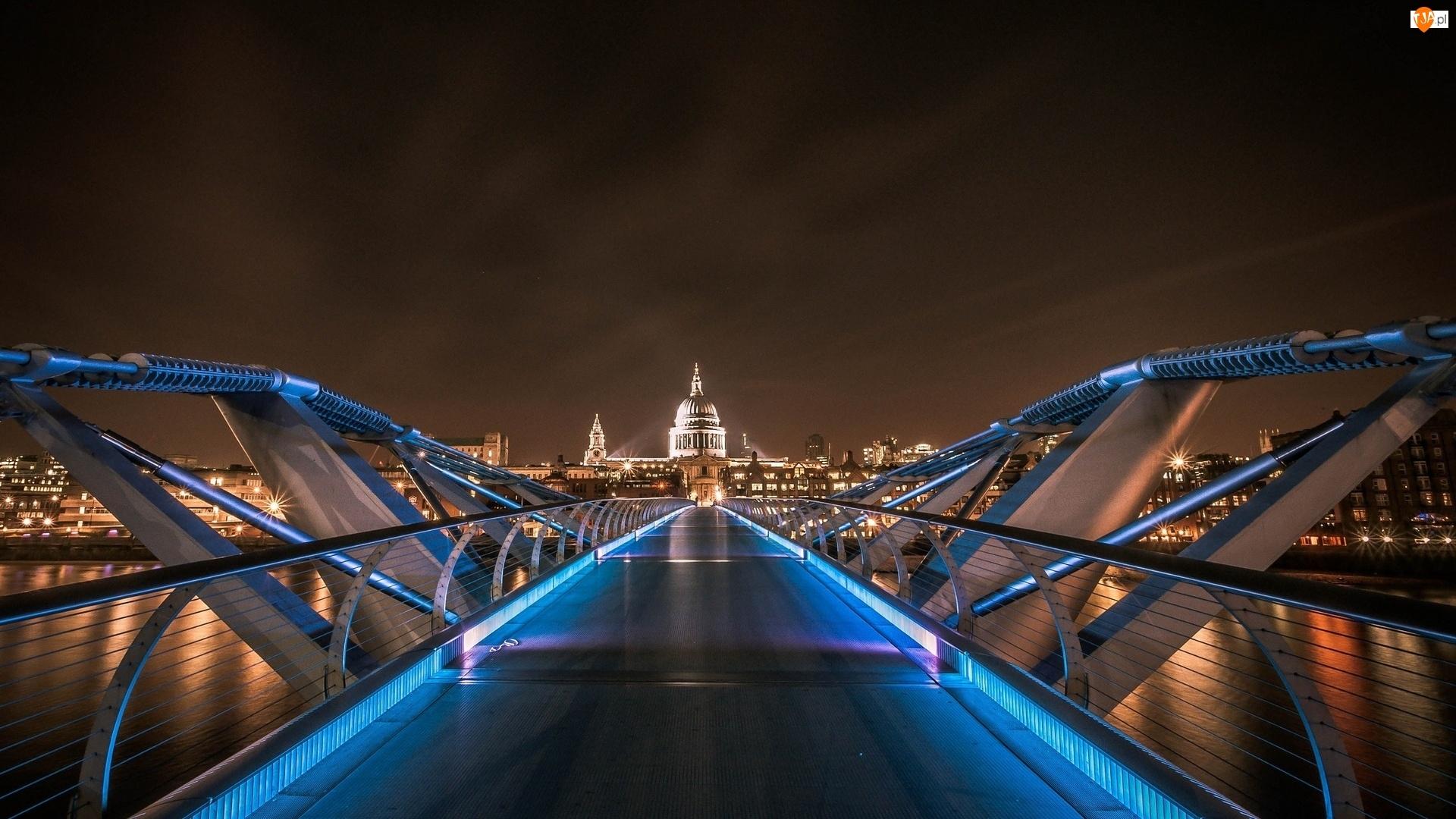 Londyn, Oświetlony, Most