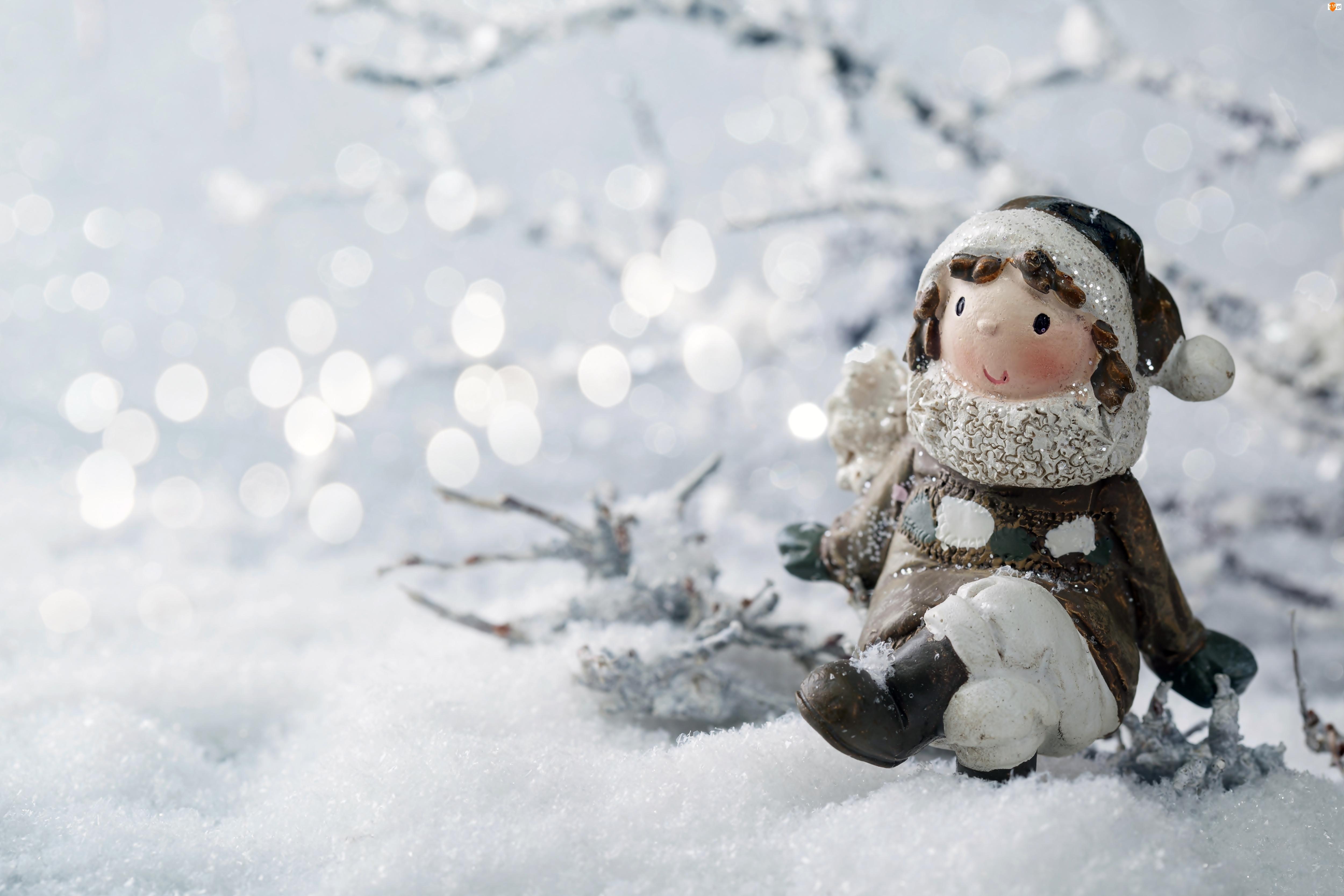 Figurka, Zima, Śnieg