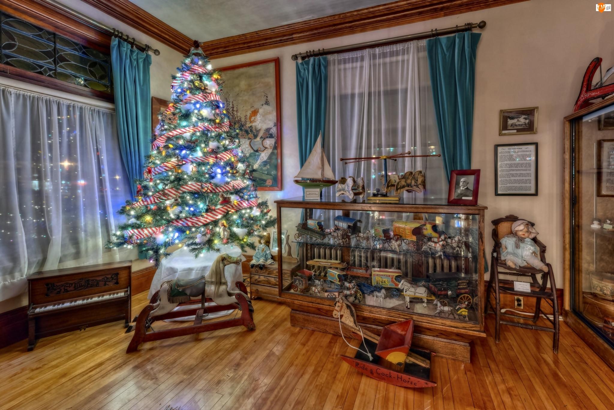 Choinka, Boże Narodzenie, Pokój