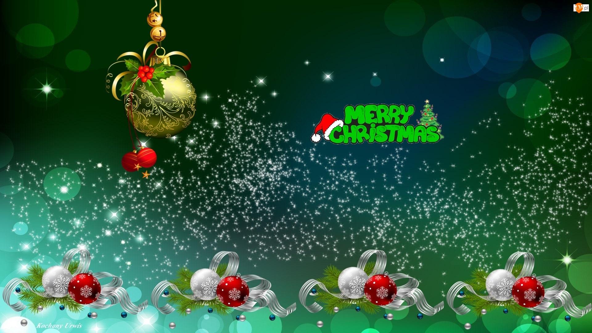 Wstążki, Boże Narodzenie, Bombki