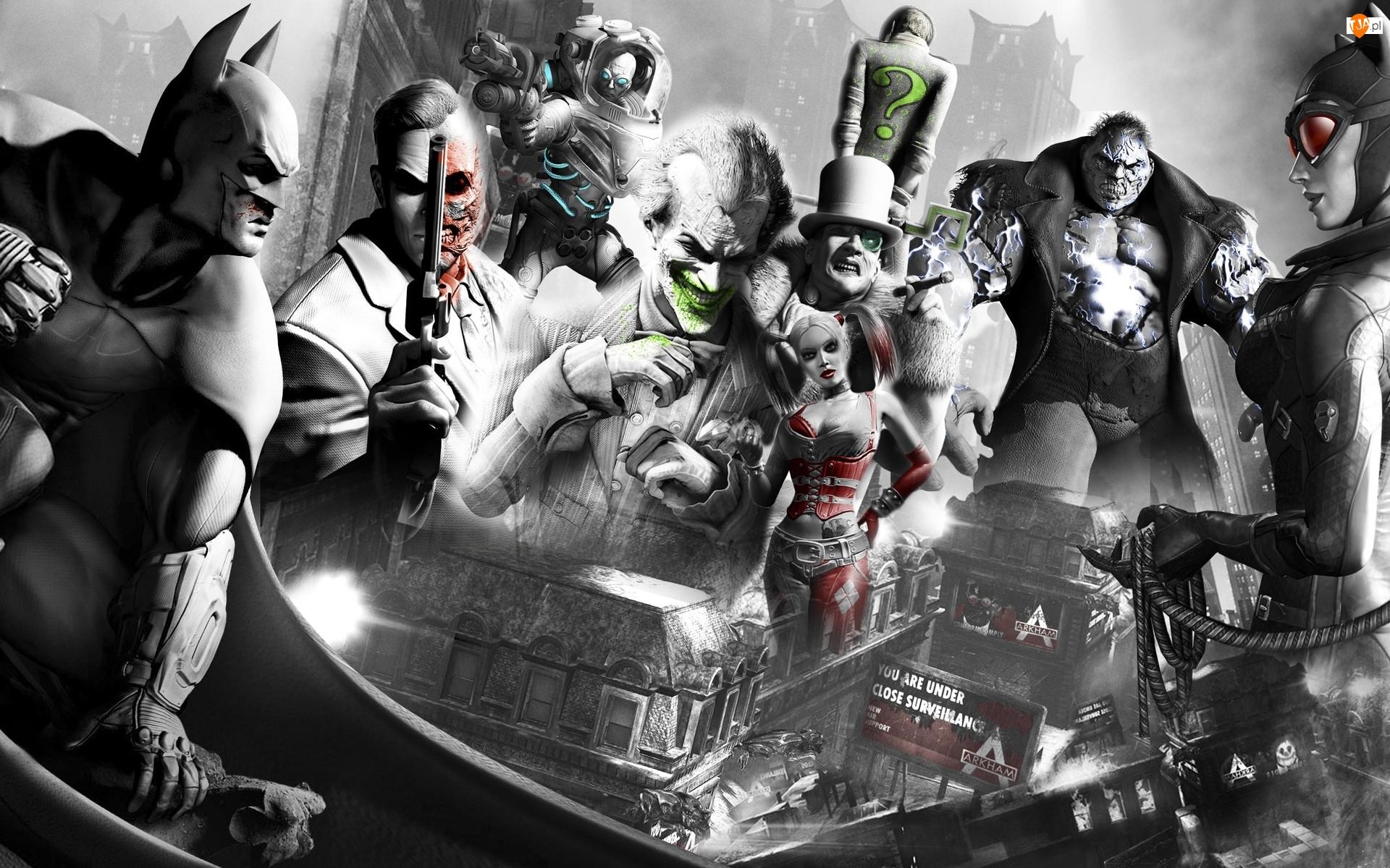 Batman, Joker, Arkham city, Catwoman