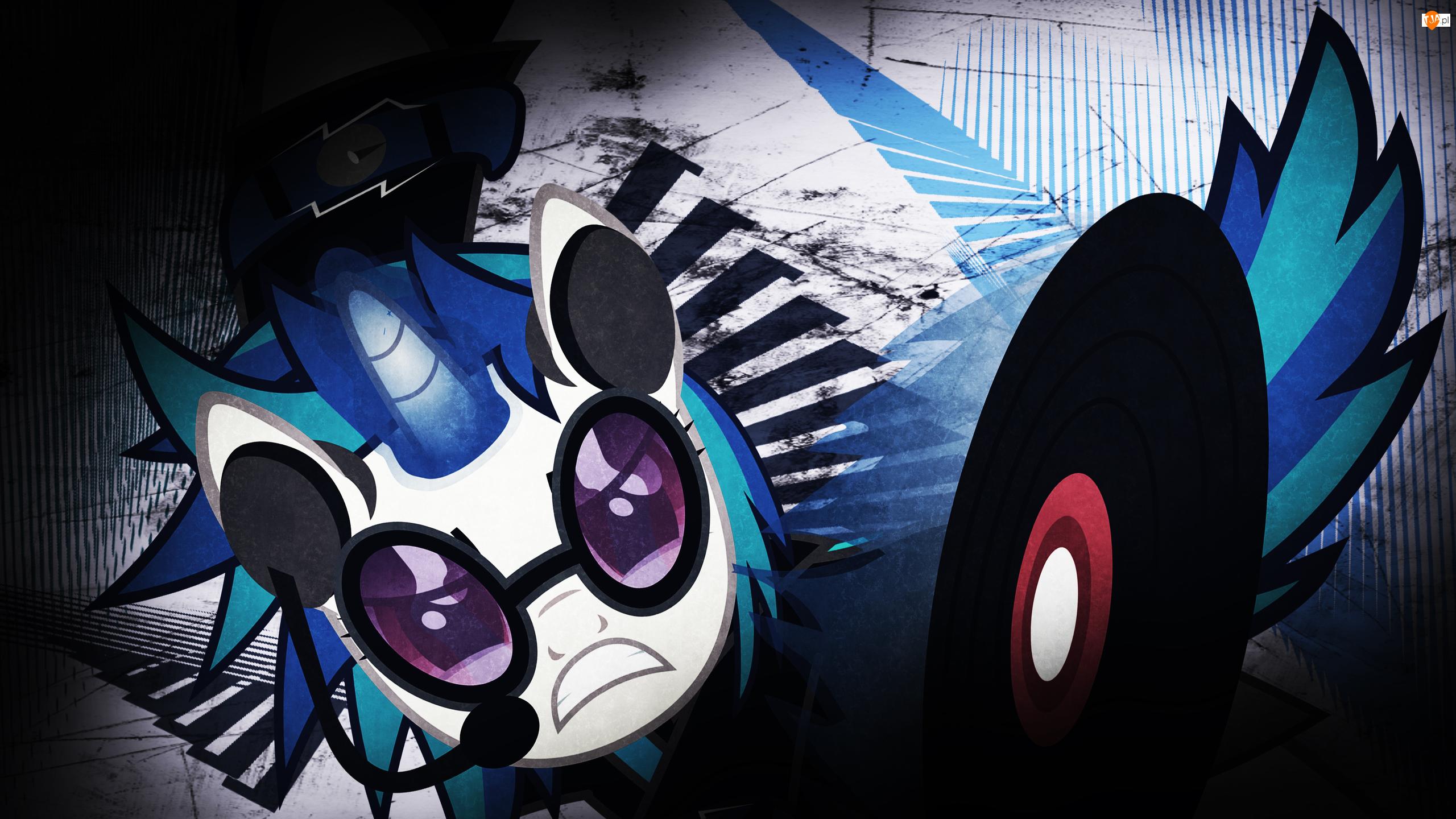 Słuchawki, My Little Pony, Okulary, Vinyl Scratch