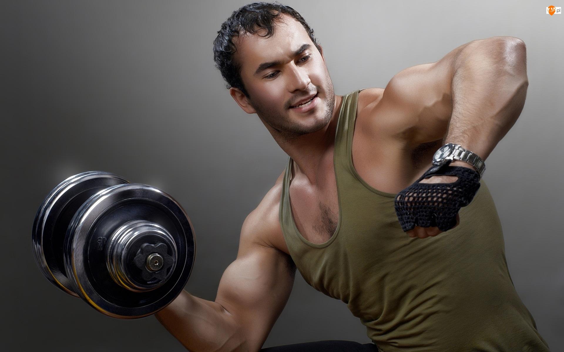 Mężczyzna, Gimnastyczny, Fitness, Ciężarek