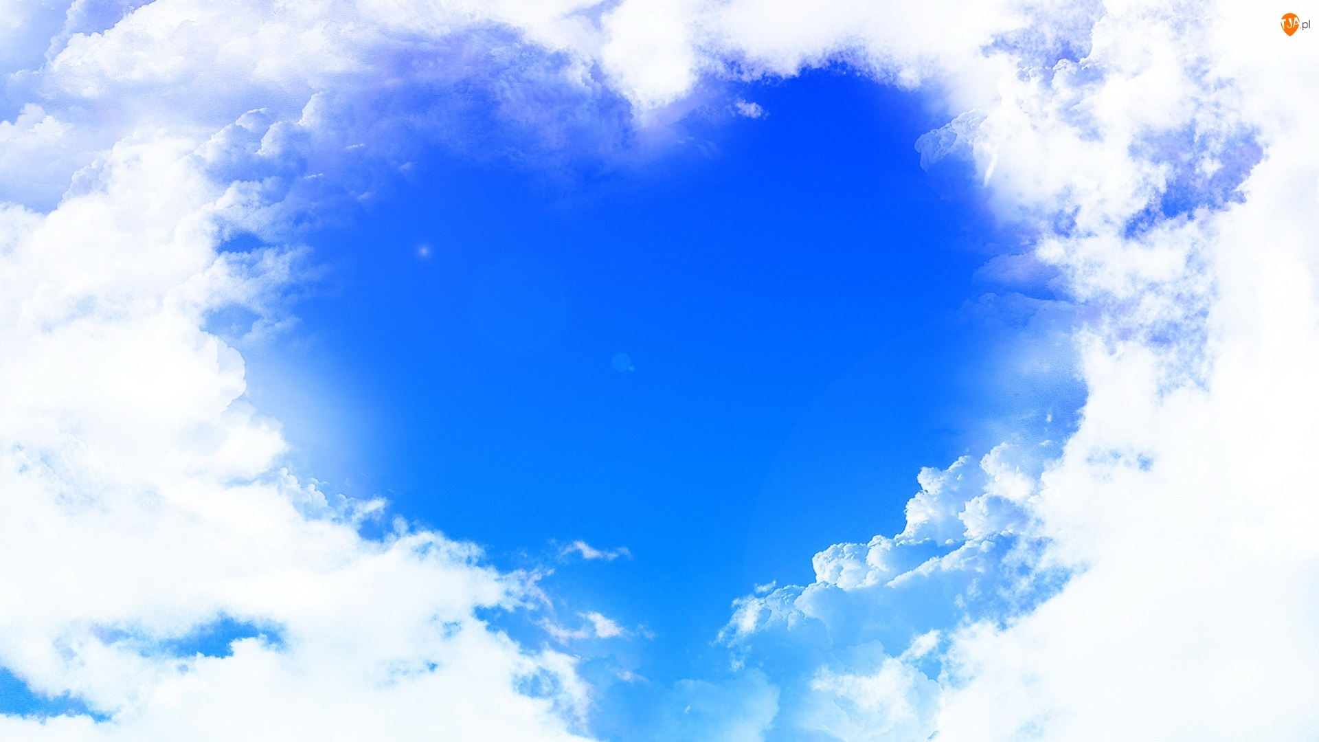 Niebo, Miłość, Chmury, Serce
