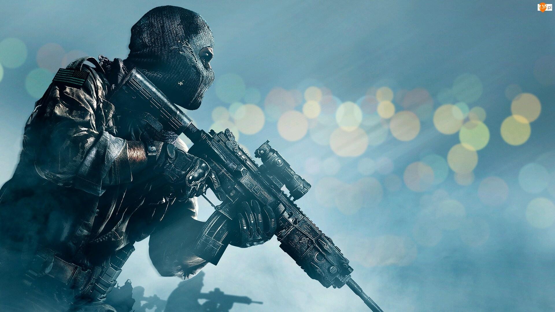Call of Duty, Maska, Ghosts, Broń