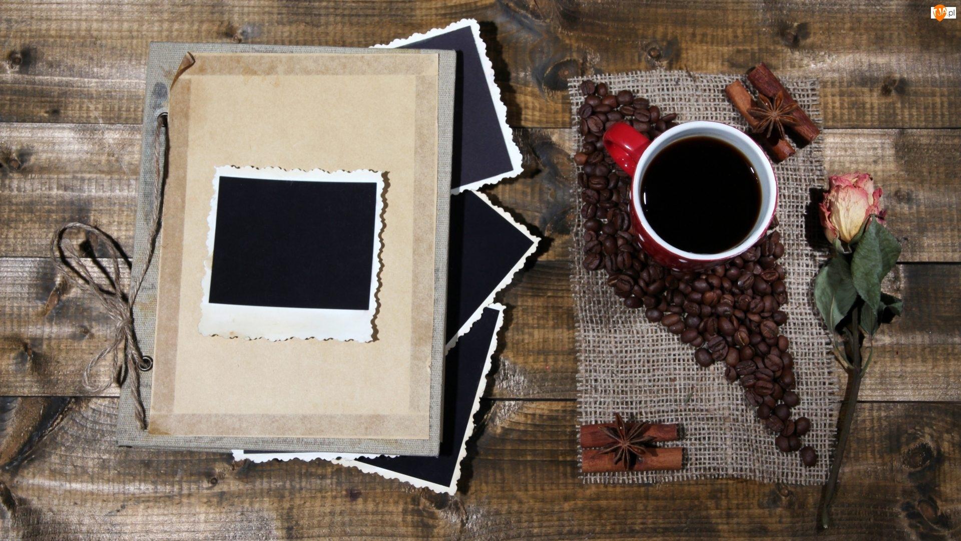 Róża, Kompozycja, Zdjęcia, Pamiętnik, Kawa