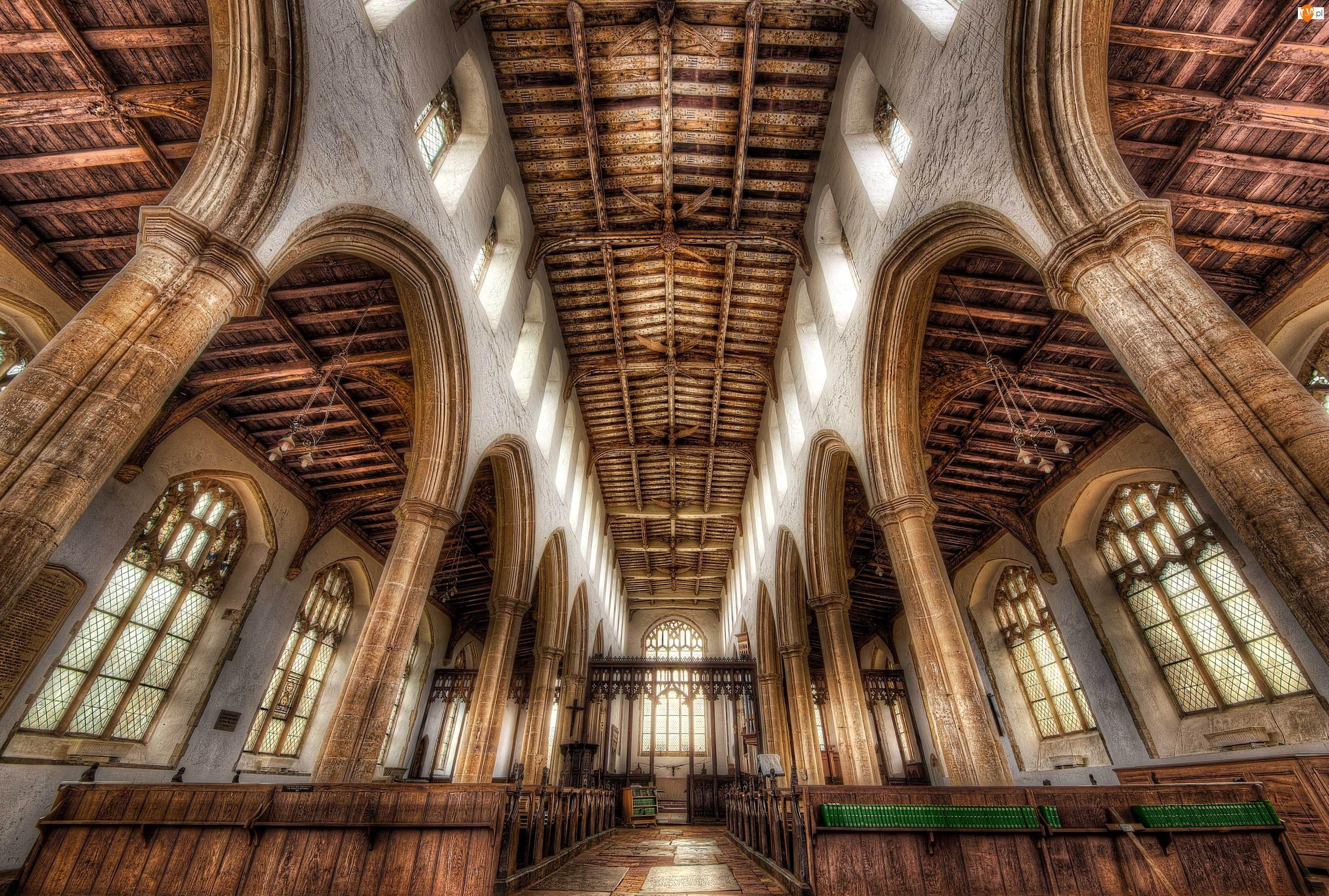 HDR, Anglia, Wnętrze, Blythburg, Kościół Świętej Trójcy