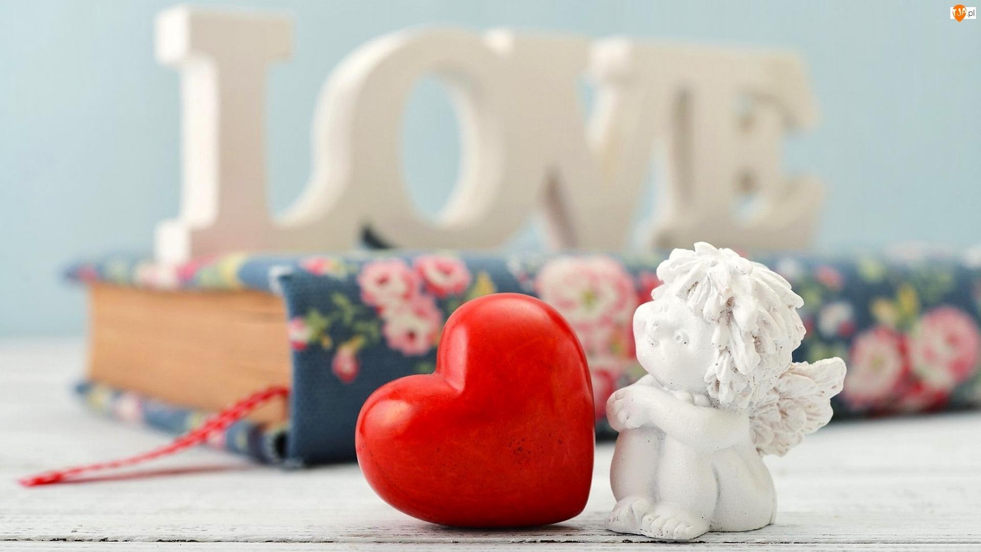 Serce, Walentynki, Dekoracja, Miłość, Aniołek