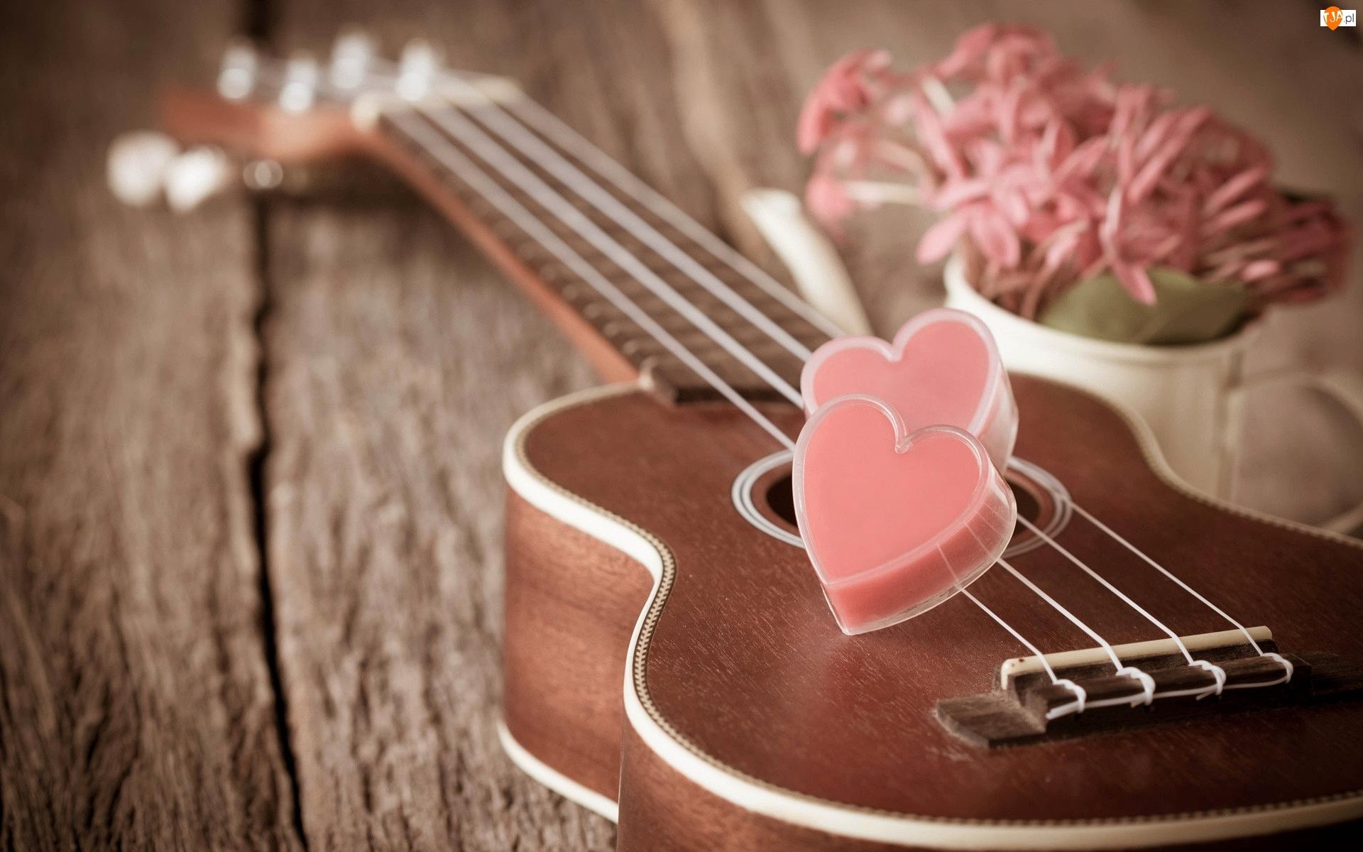 Serduszka, Walentynki, Gitara