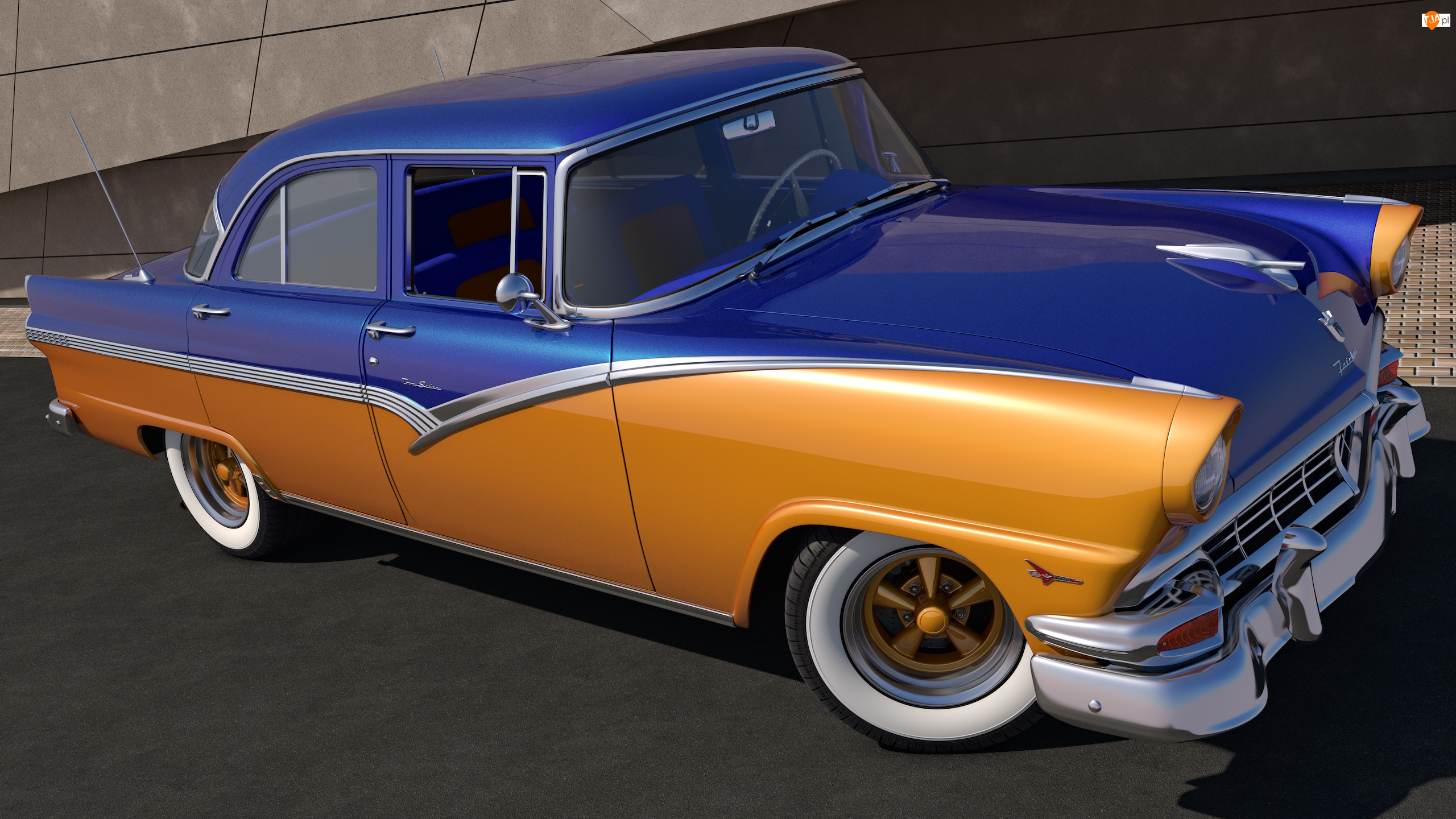 1956, Zabytkowy, Ford Fairlane Town Sedan