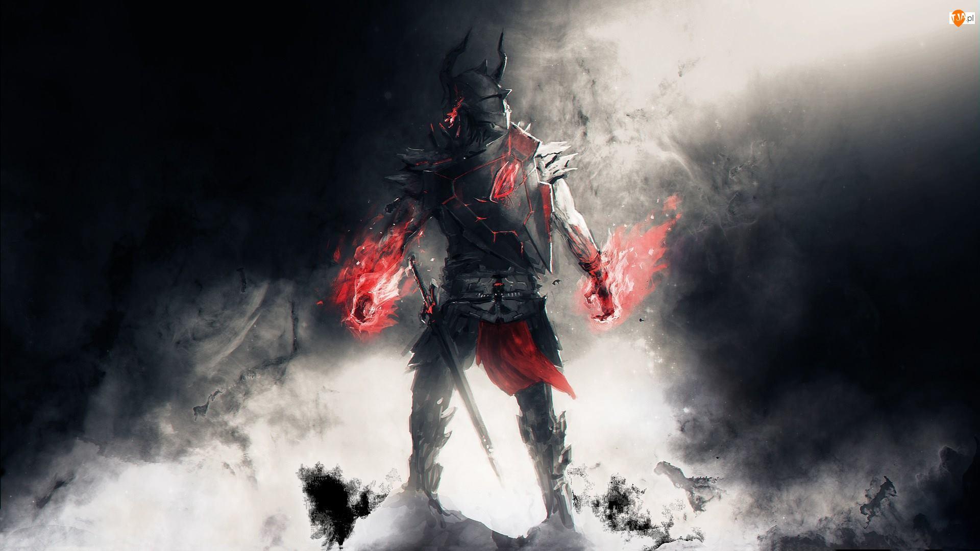 Płomienie, Gra, Wojownik, Lords of the Fallen, Rycerz