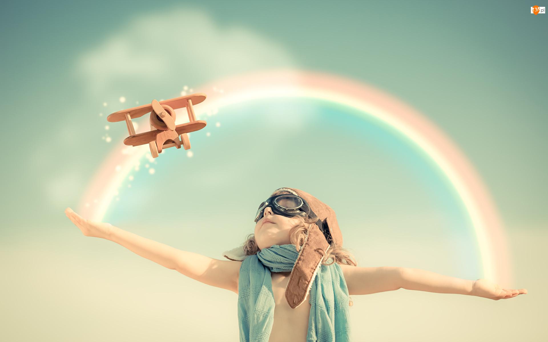 Tęcza, Dziewczynka, Samolot