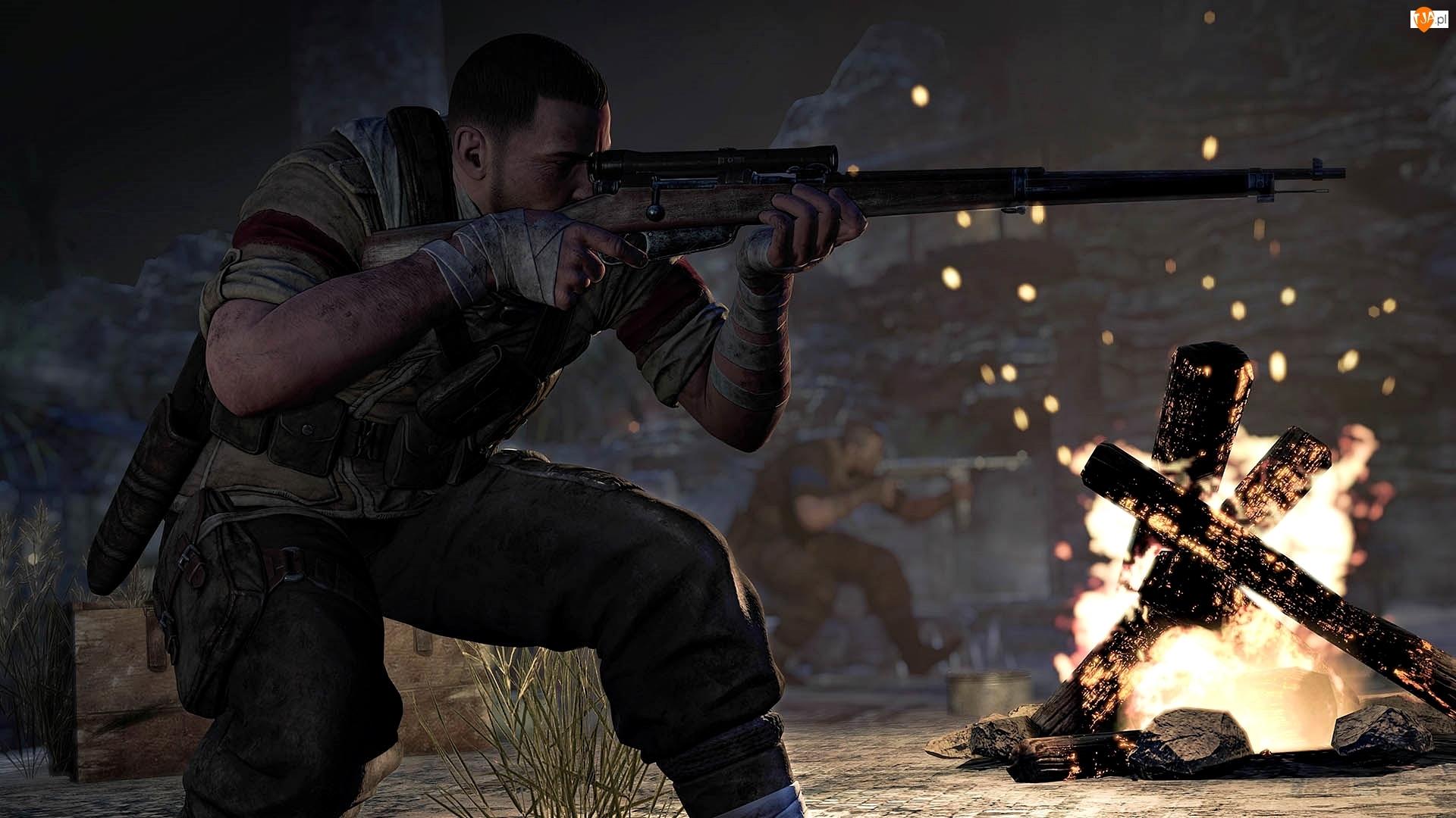 Gra, Sniper Elite 3: Afrika, Snajper, Karl Fairburne