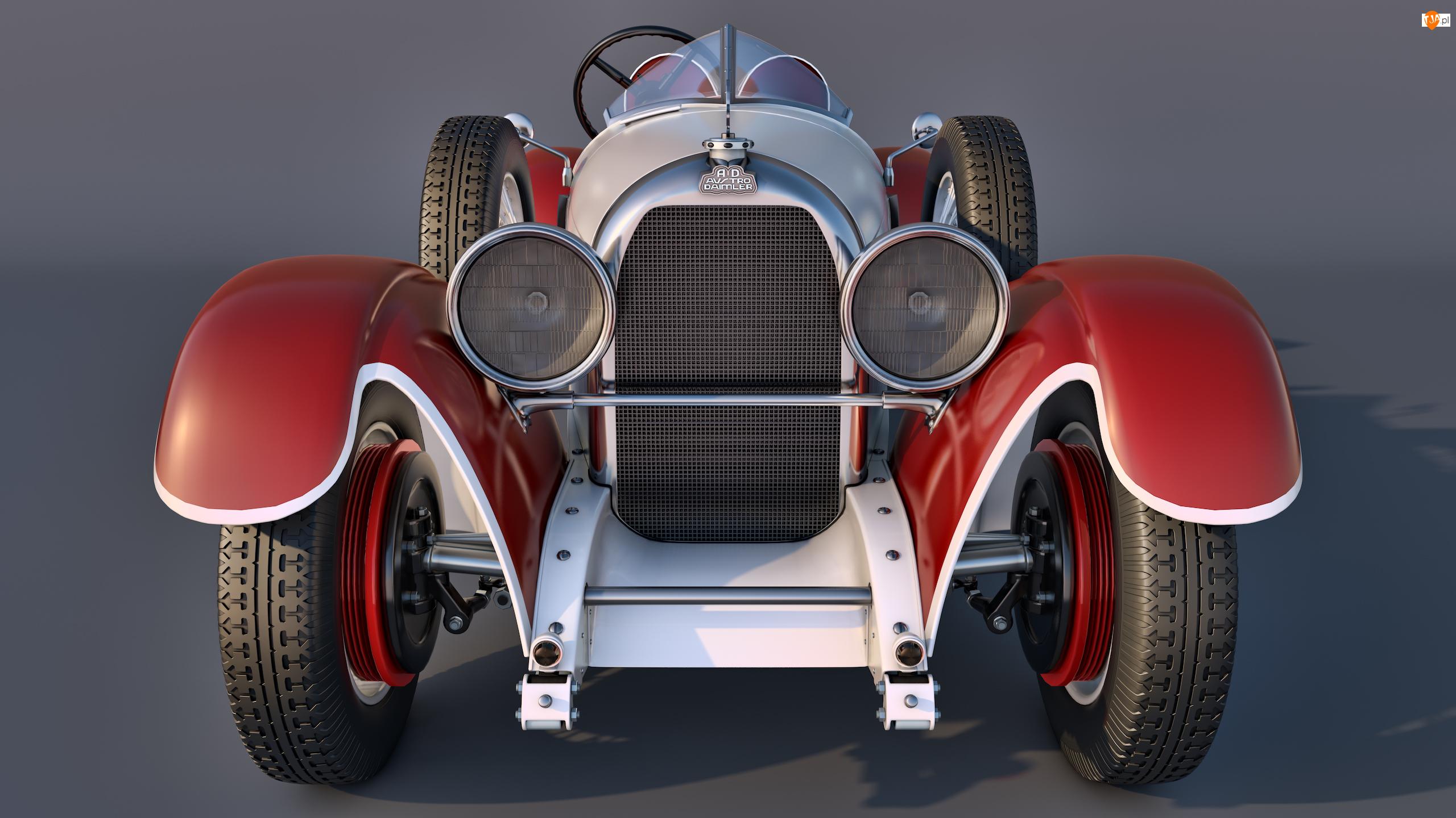 Zabytkowy, Przód, Austro Daimler Torpedo, 1929