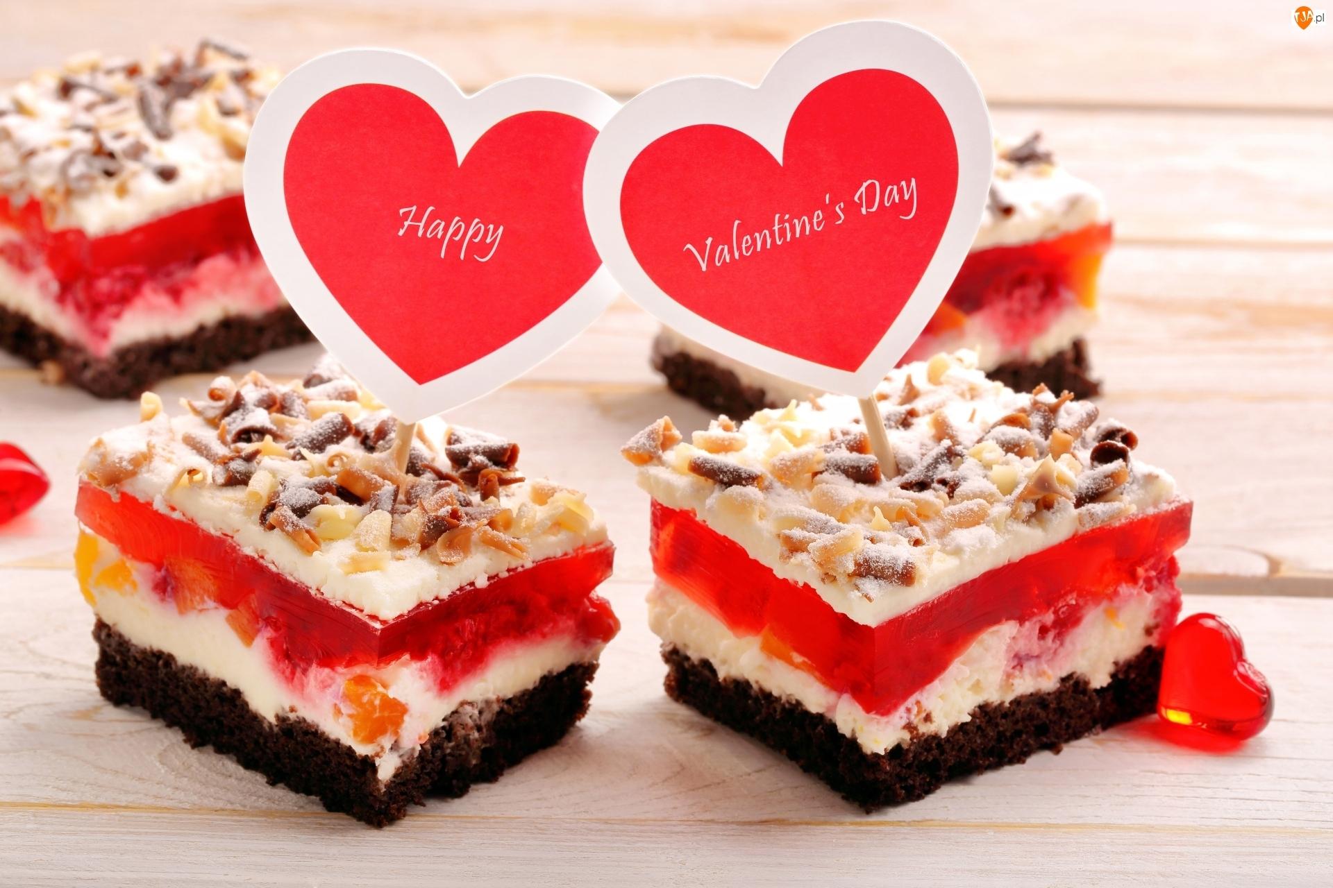 Serca, Walentynki, Ciasto