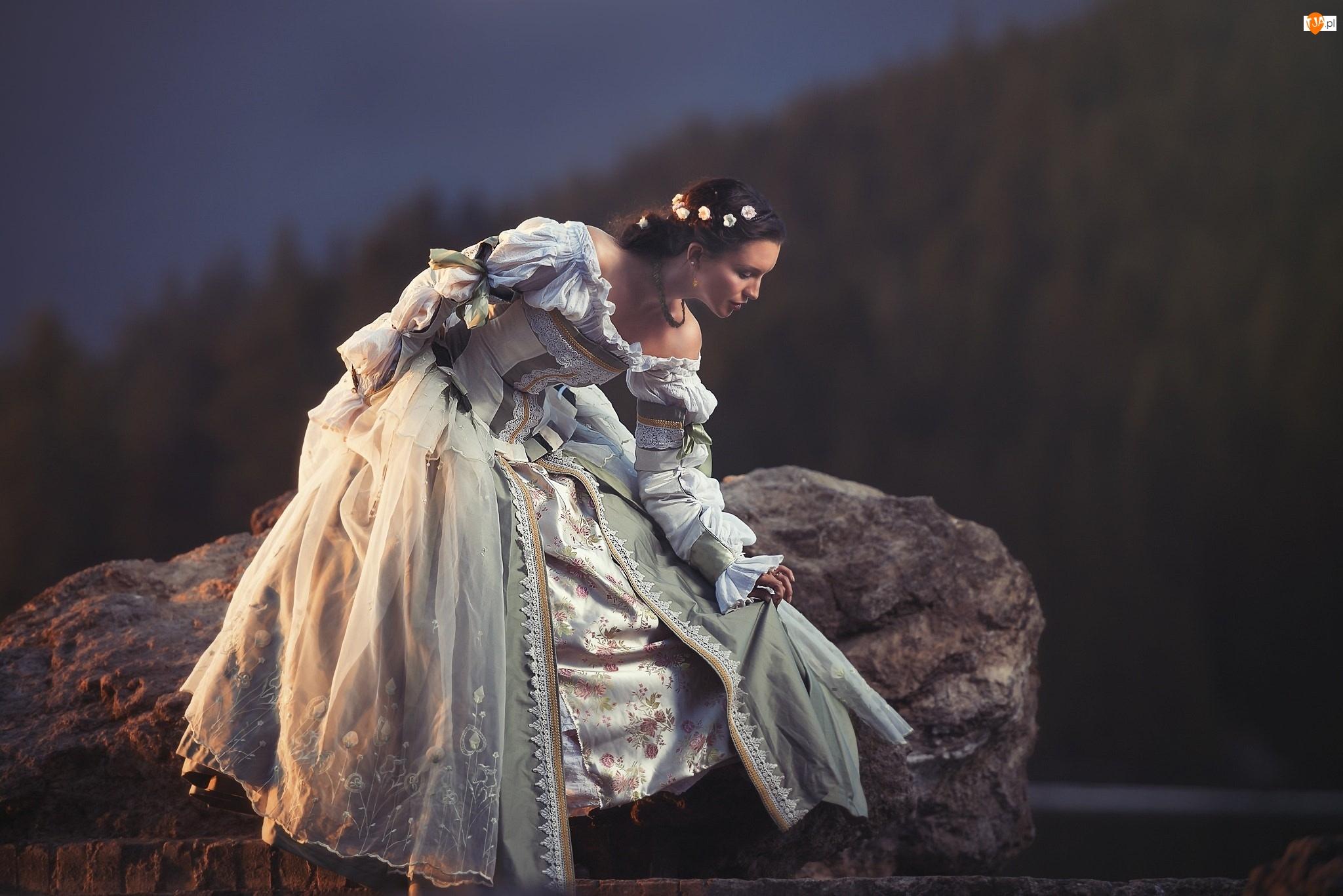 Suknia, Kobieta, Ozdobna