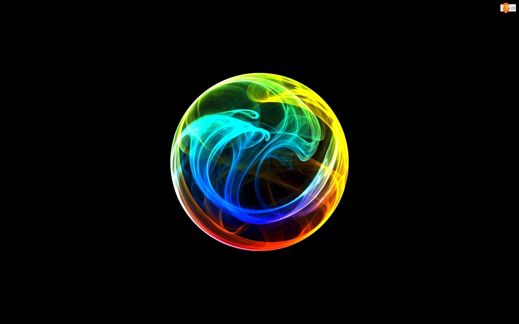Kolorowy, 3D, Dym, Bańka