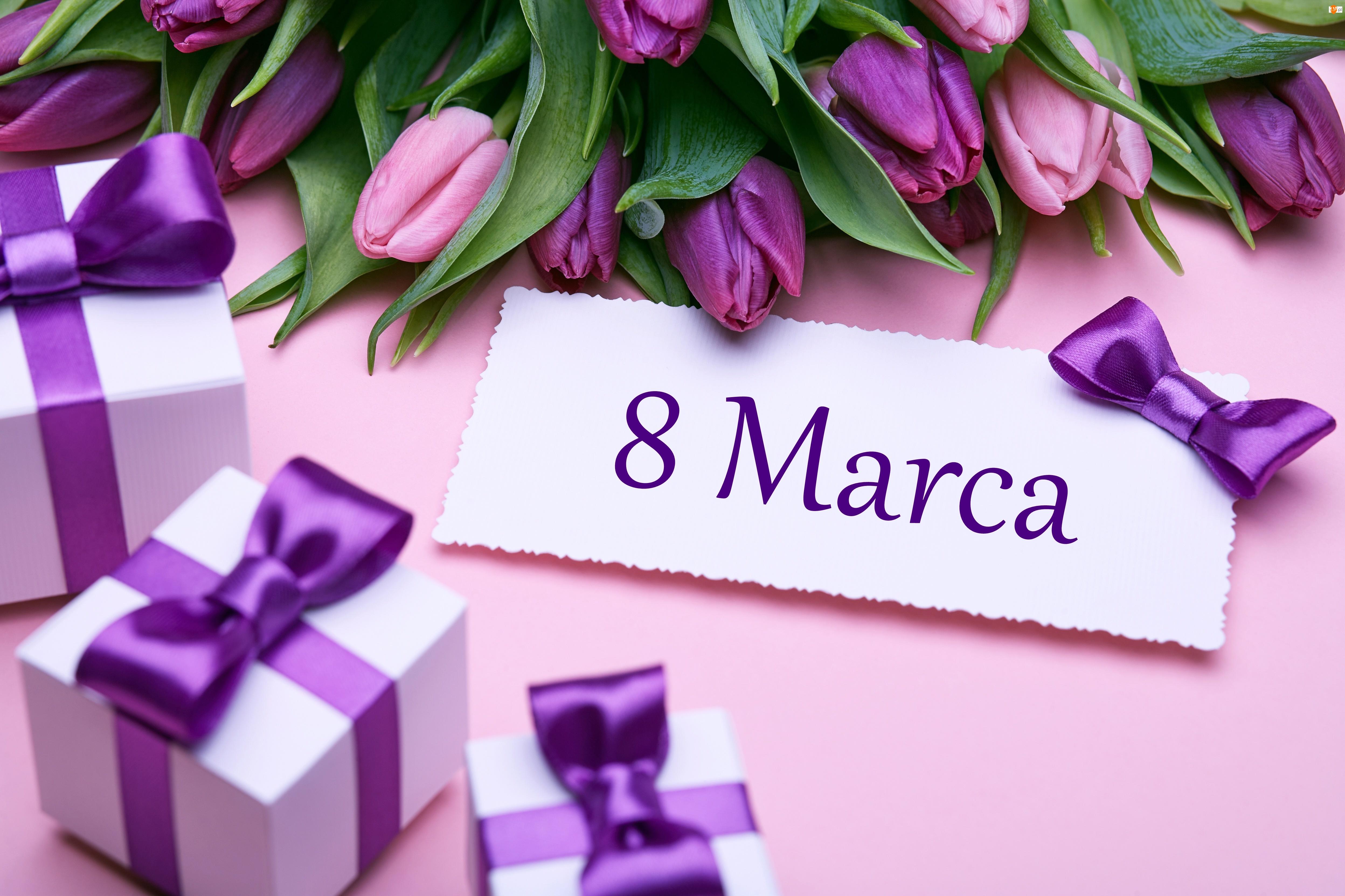 Prezenty, Dzień Kobiet, Kwiaty