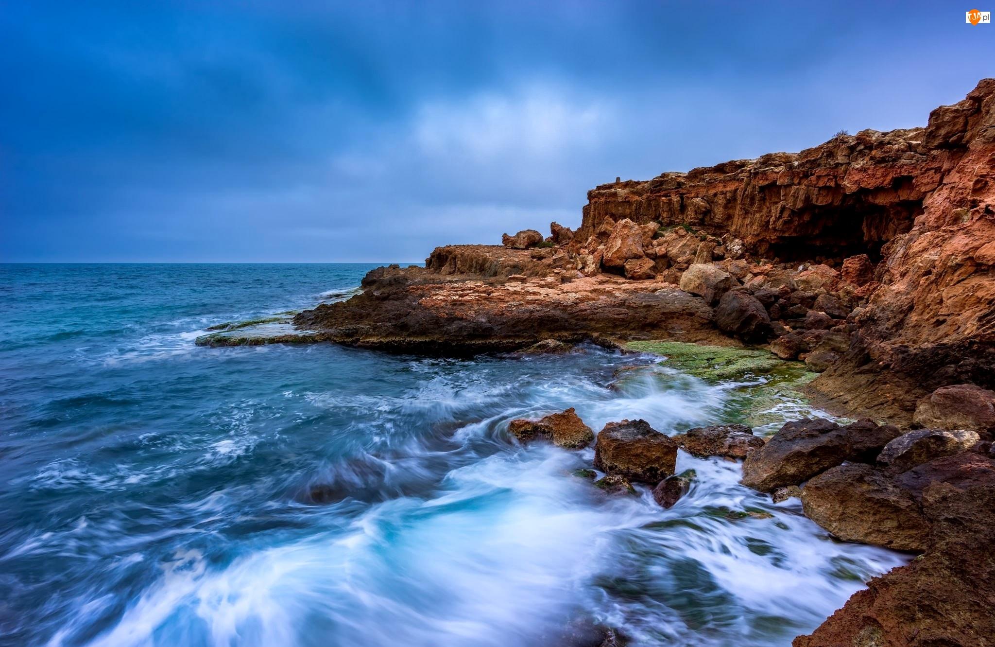 Morze, Kamienie, Skały, Brzeg