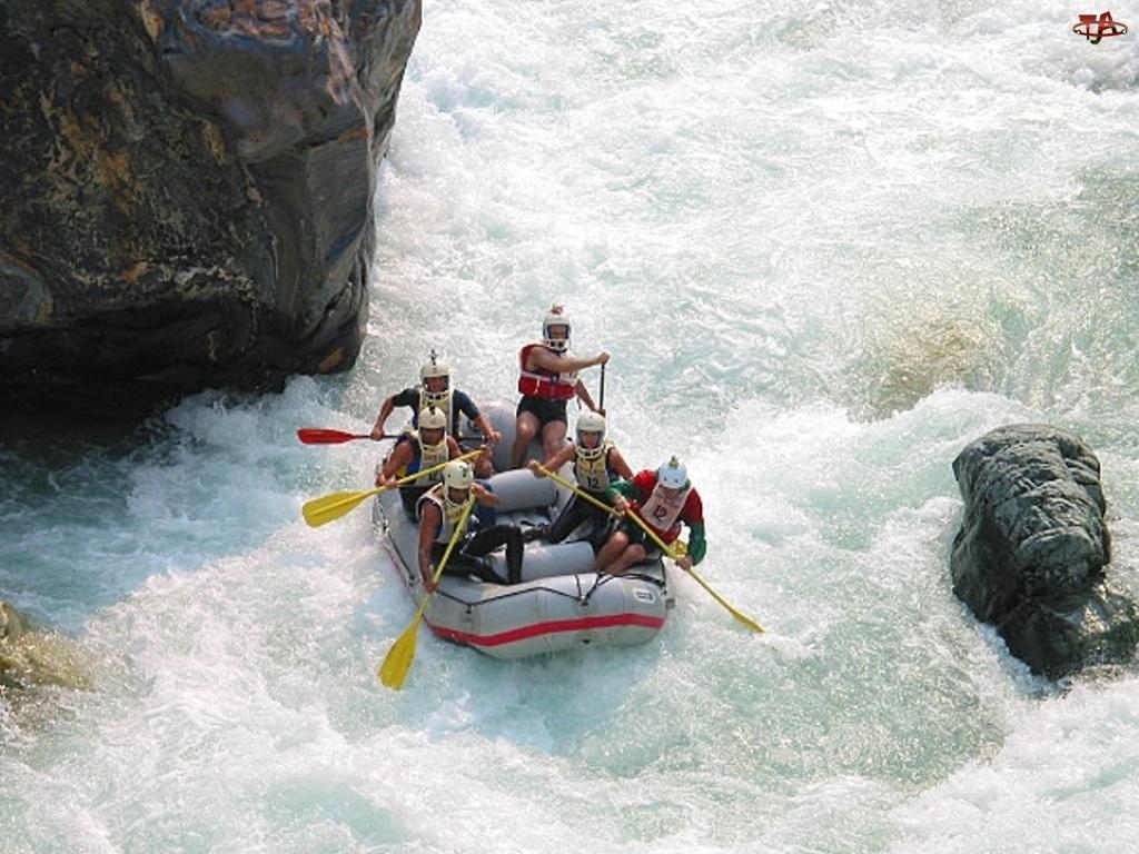 ponton, Rafting, rzeka, spływ, wiosła