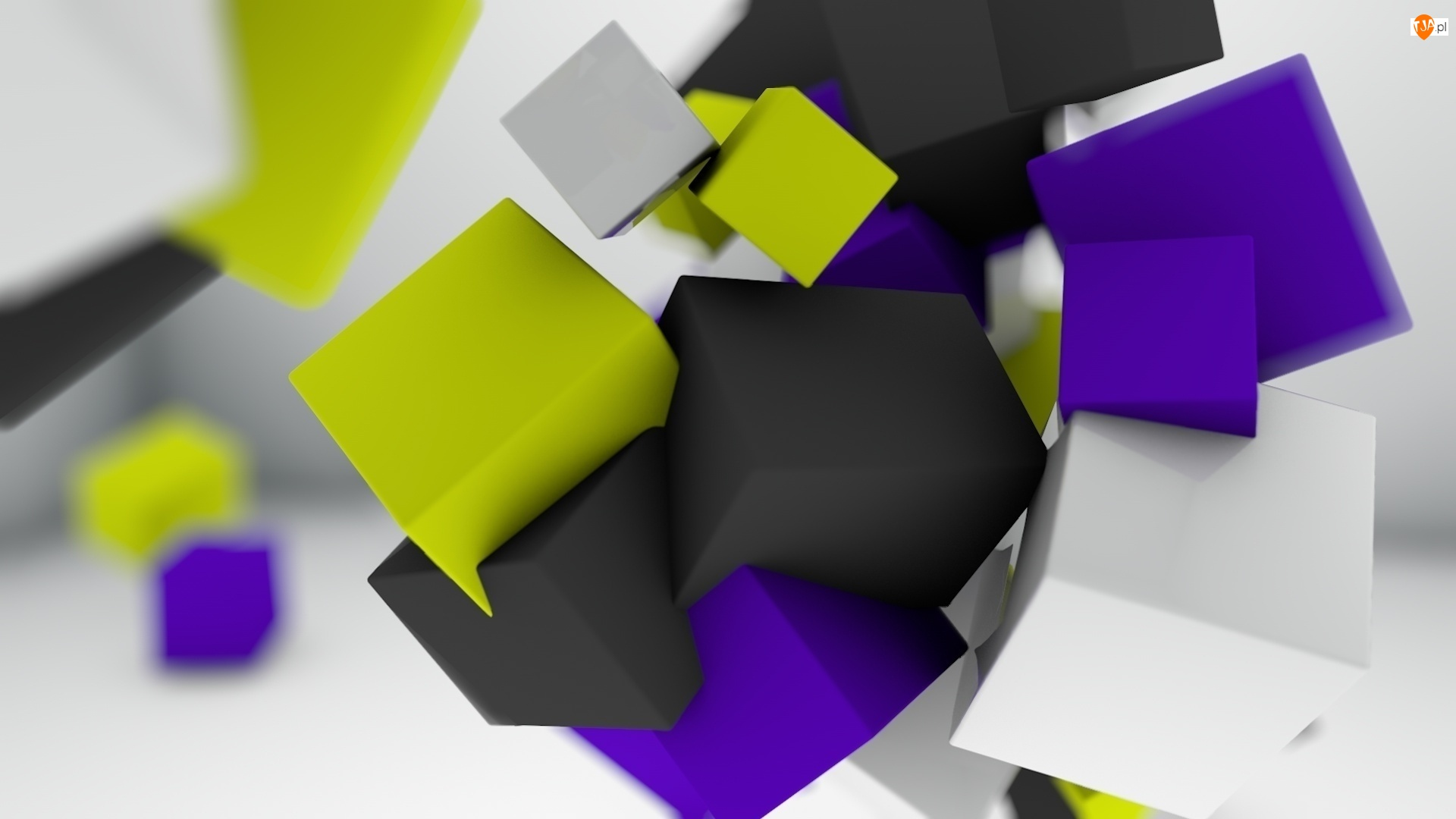 Kostki, Kolorowe, 3D