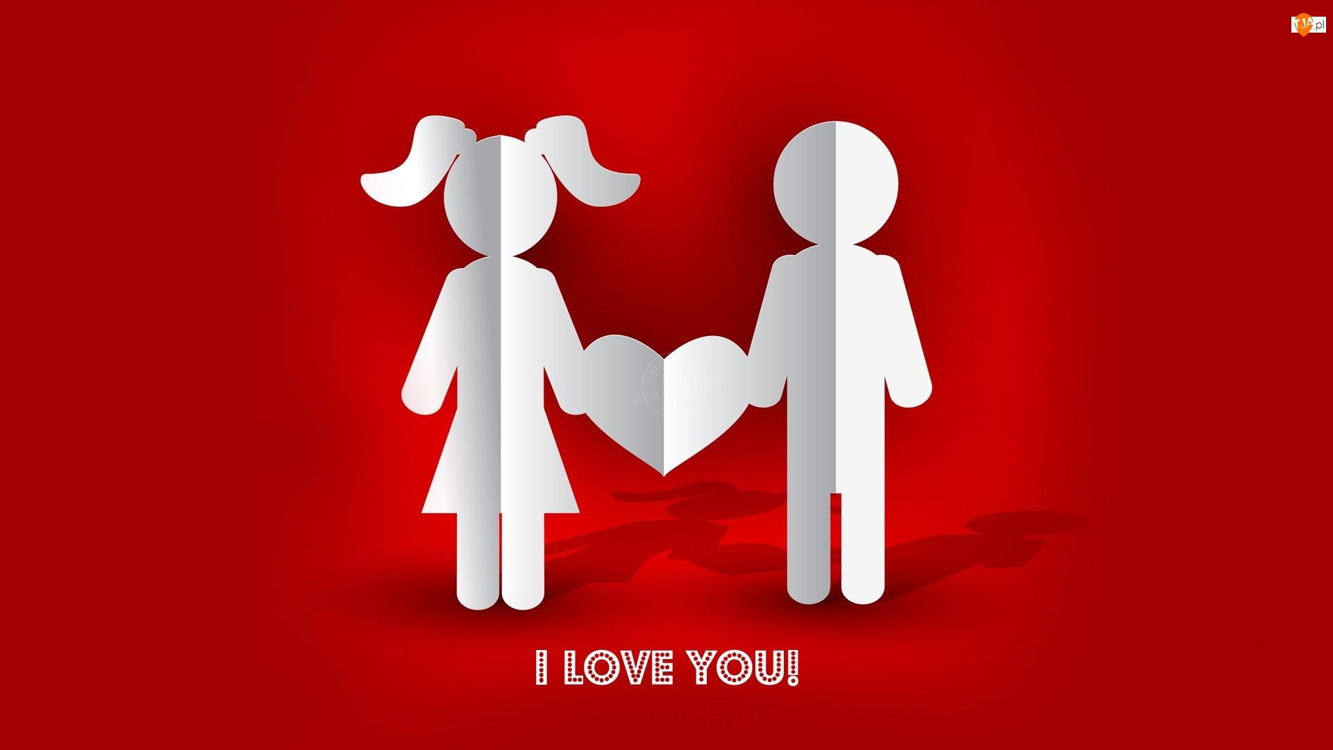 Walentynki, Serce, Papierowa, Para