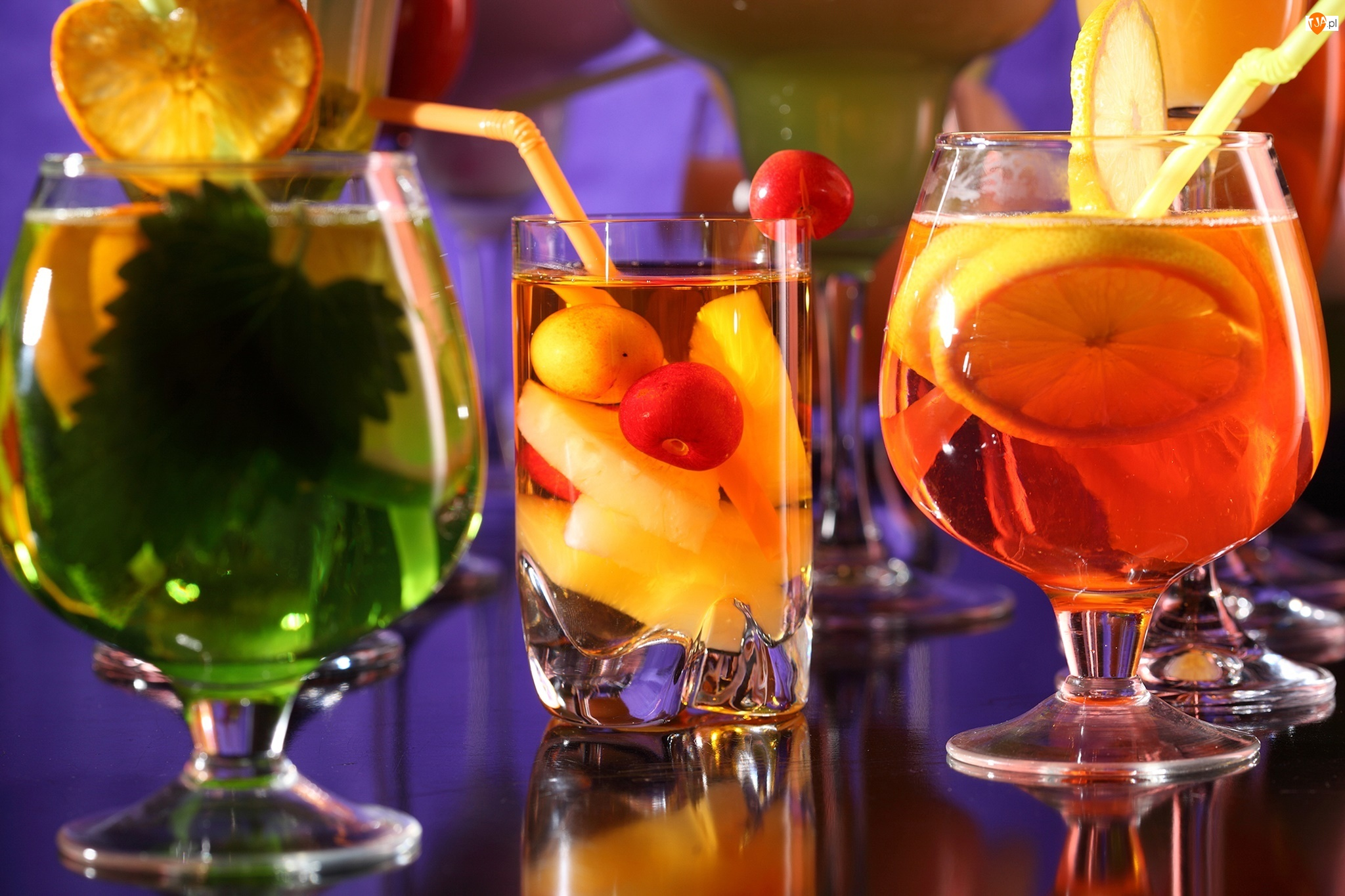 Highball Kolorowe, Whisky Z Sodą, Owocowe, Koktajle