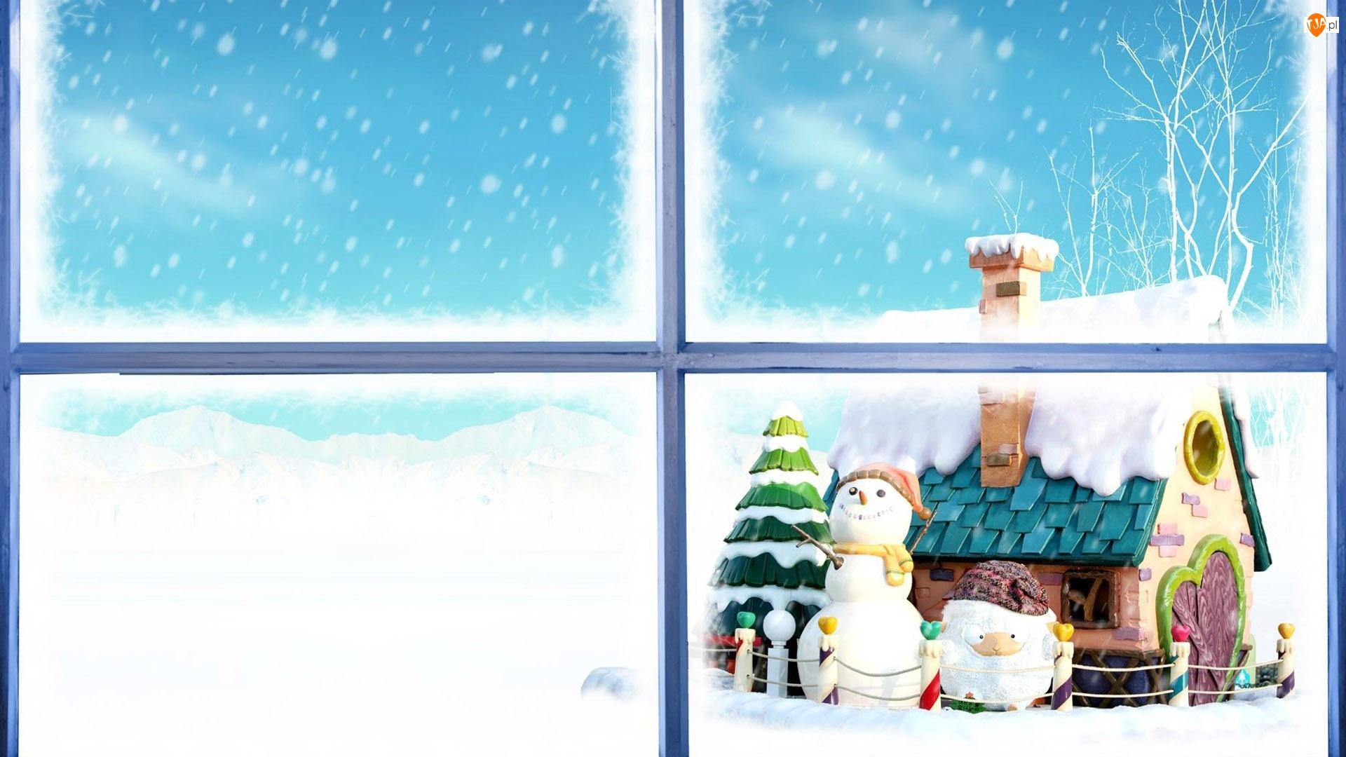 Święta, Dla dzieci, Zima, Bałwan