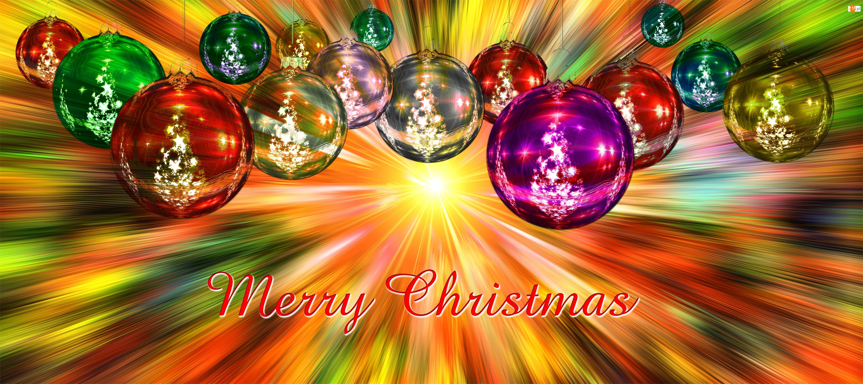 Boże, Kolorowe światło, Narodzenie, Bombki