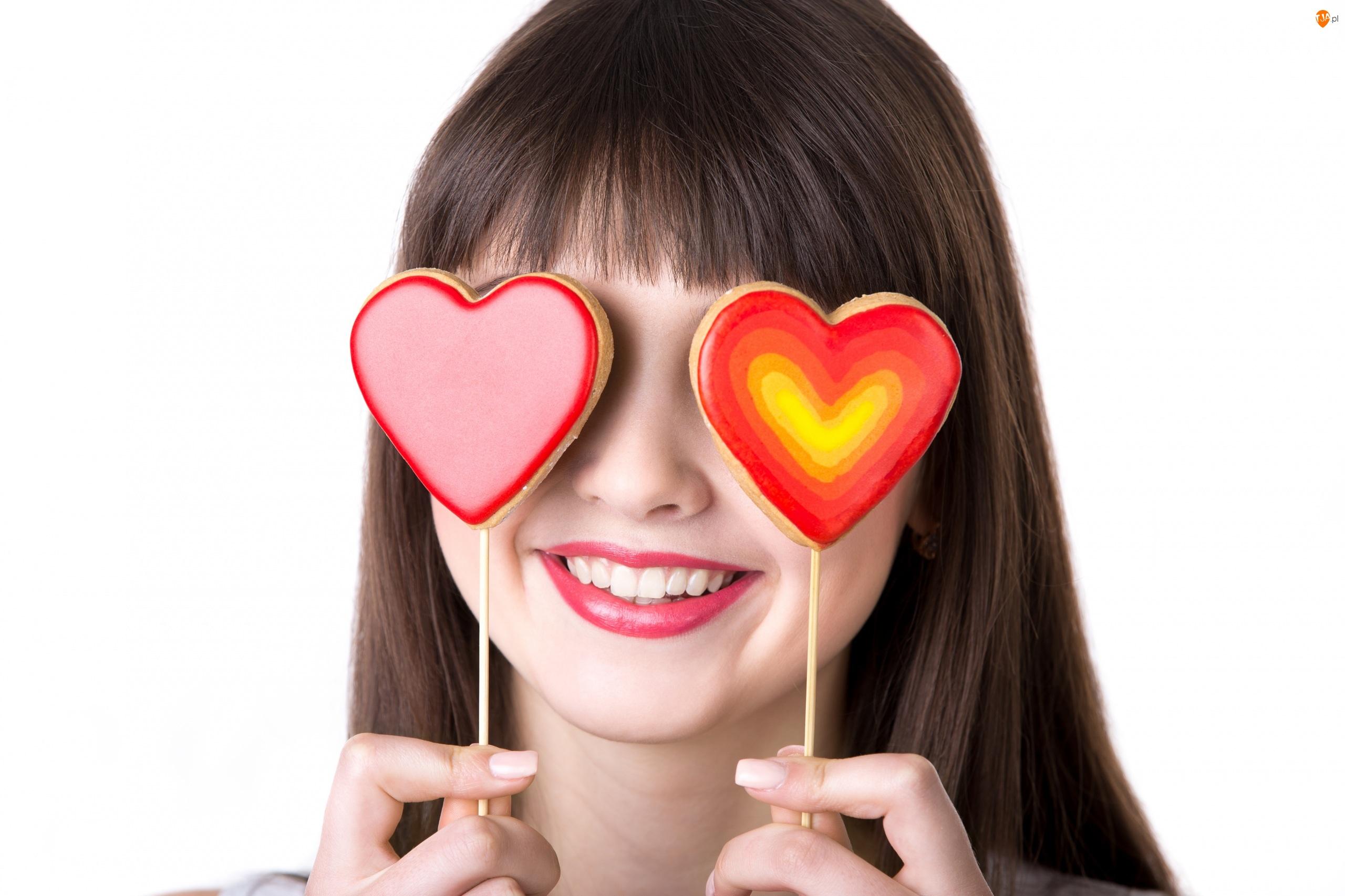 Walentynki, Serca, Kobieta, Lizaki