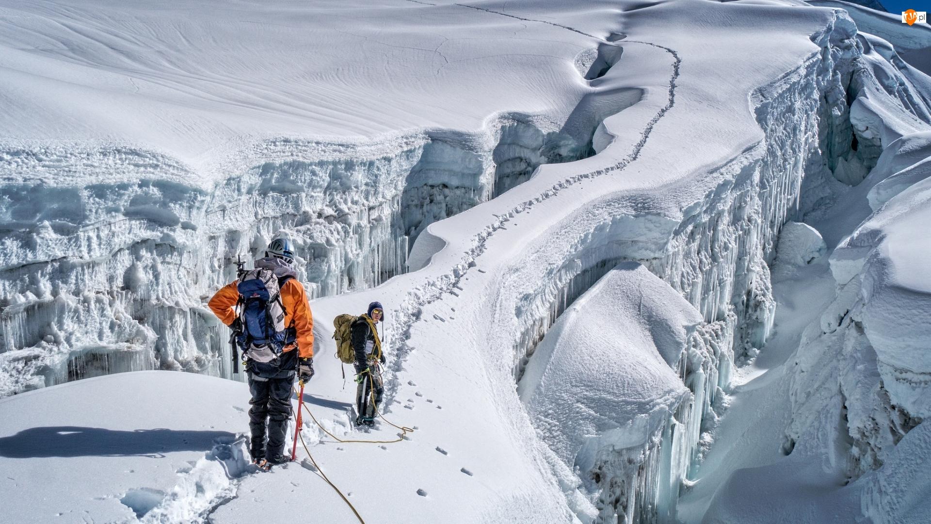 Wspinacze, Nepal, Góry Himalaje, Wspinaczka, Szczyt Imja Tse