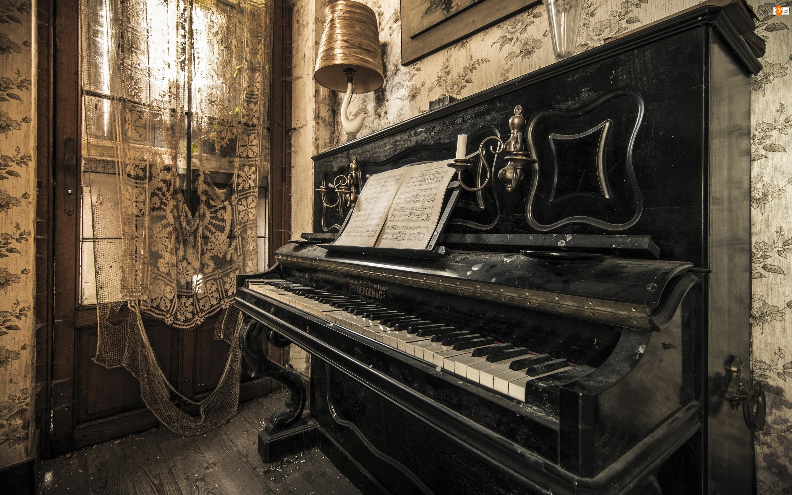 Pokój, Nuty, Wnętrze, Pianino